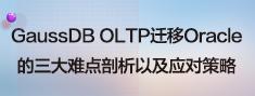 GaussDB OLTP迁移Oracle的三大难点剖析以及应对策略.png