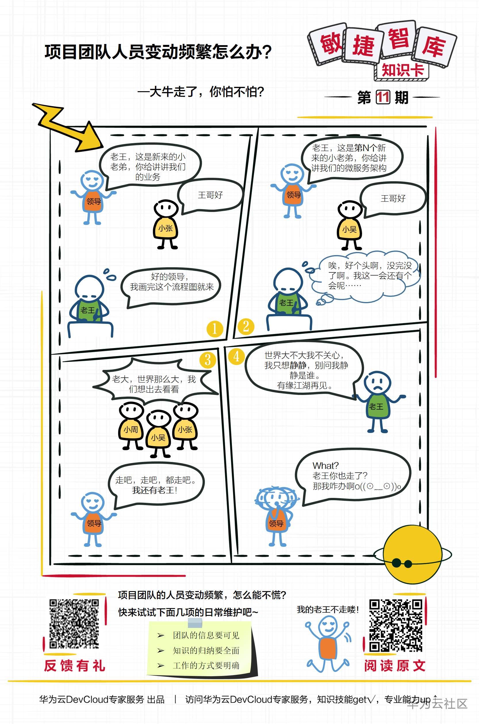 【敏捷智库知识卡】第11期项目团队人员变动频繁怎么办——大牛走了,你怕不怕?.PNG.png